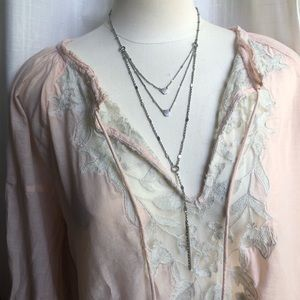 ⭐️ Lucky Brand delicate layered necklace, bohemian